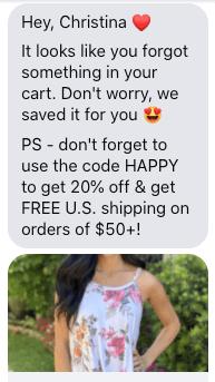 Abandoned Cart Messenger Example-1