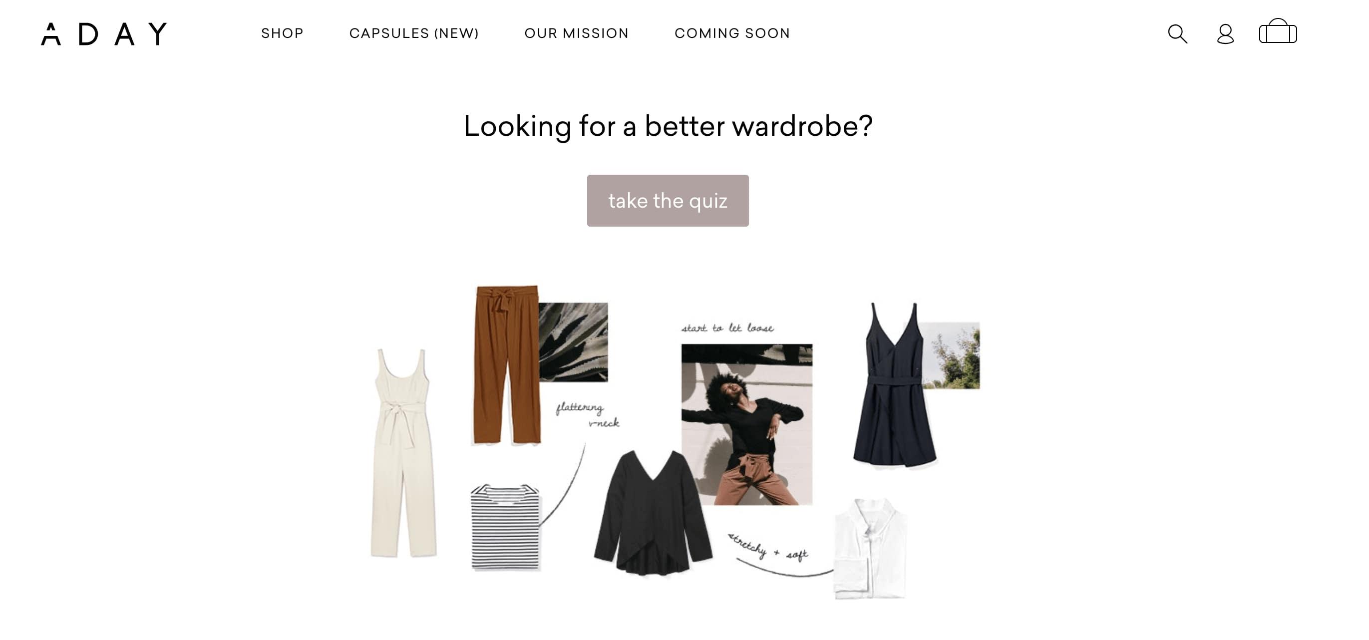 Apparel quiz - ADAY - wardrobe