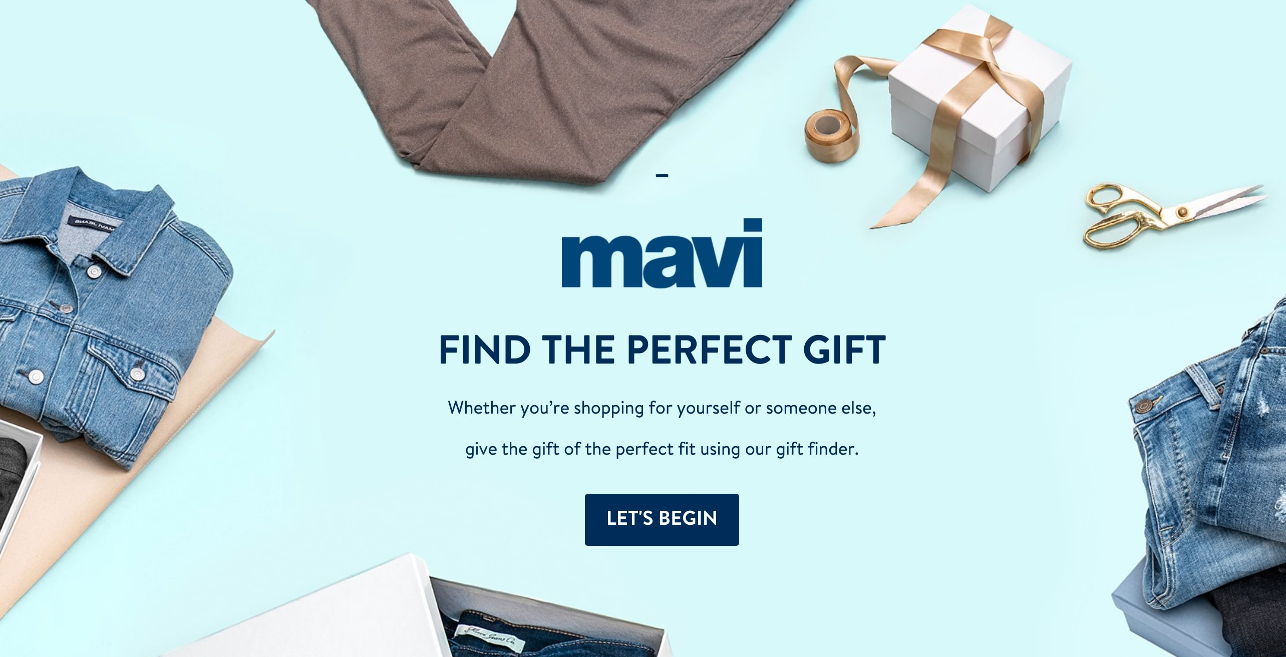 Apparel quiz - Mavi jeans - gift finder