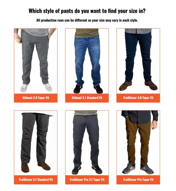 Apparel quiz - off the grid surplus - pants style