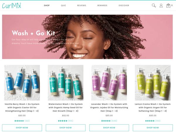 Curlmix Bundle Website Product Page