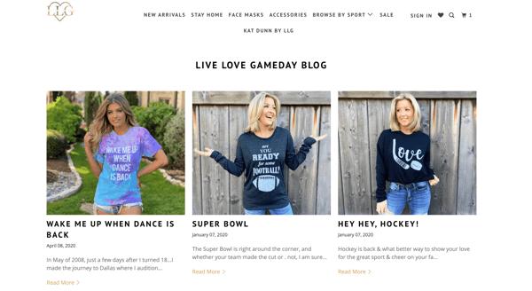 Live Love Gameday blog exampel-1