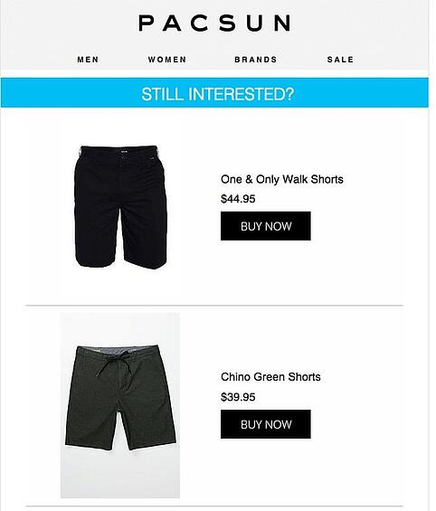 Pacsun product page