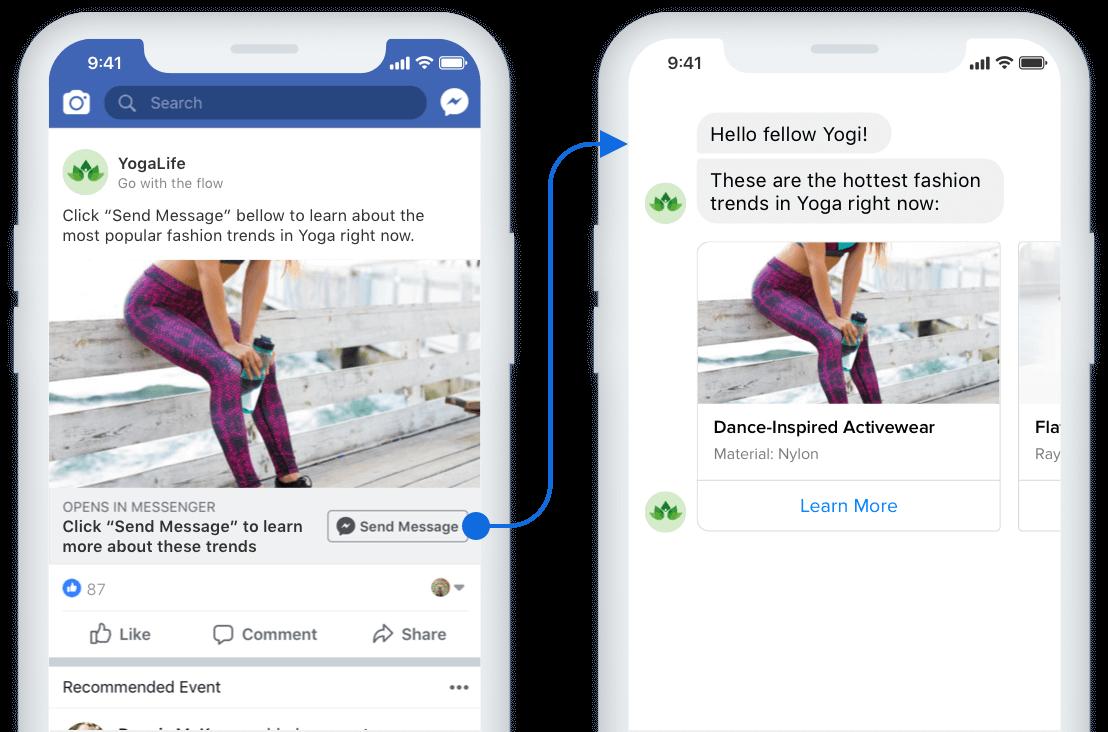 facebook messenger ad chatbot