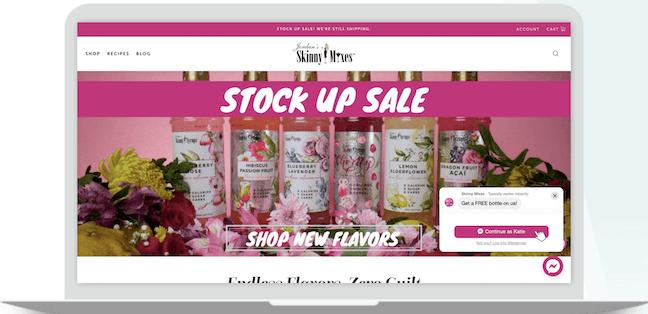 Skinny Mixes website screenshot