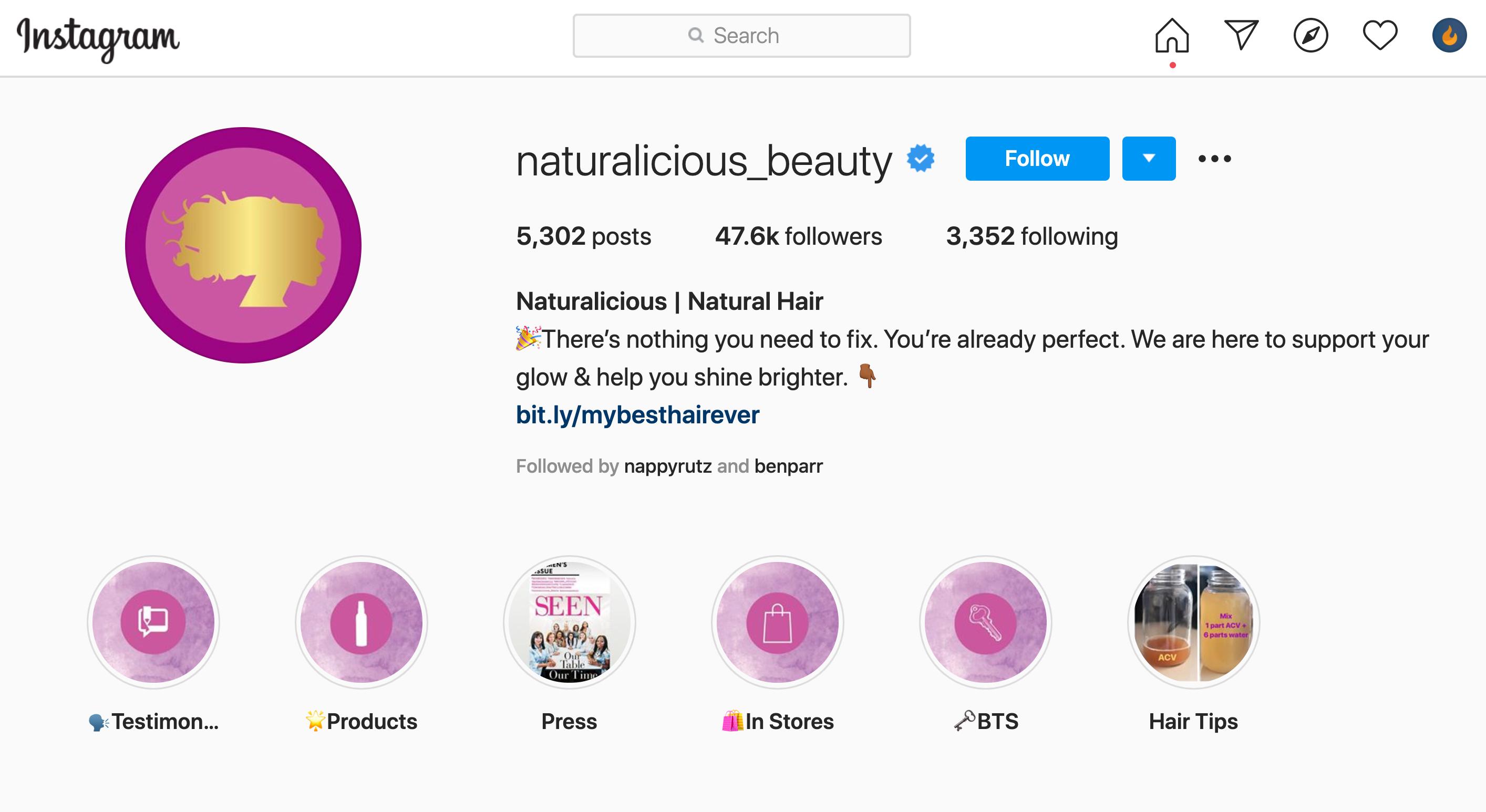 Naturalicious Instagram Profile
