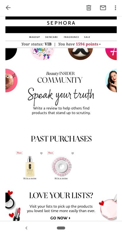 Sephora email example-1