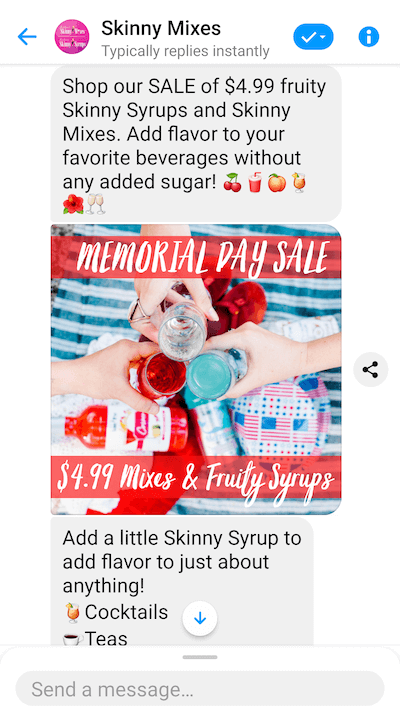 Skinny Mixes Messenger example-1