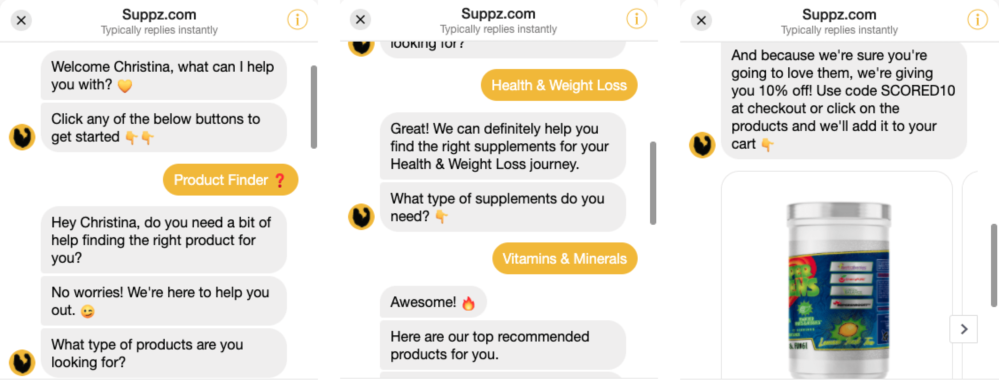 Suppz Messenger Bot