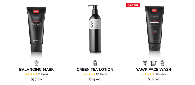 Tame the Beast Product Page Inspiration