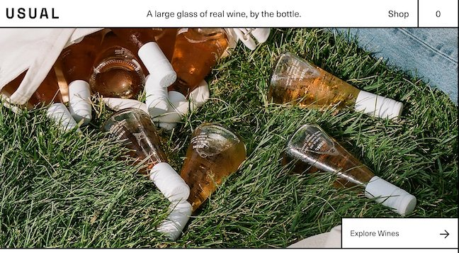 Usual Wines homepage