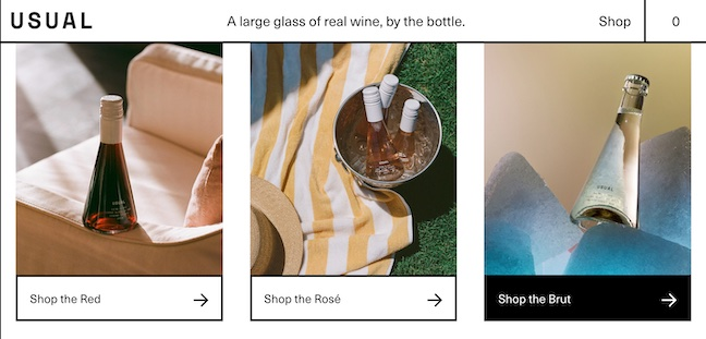 Usual Wines Homepage 2