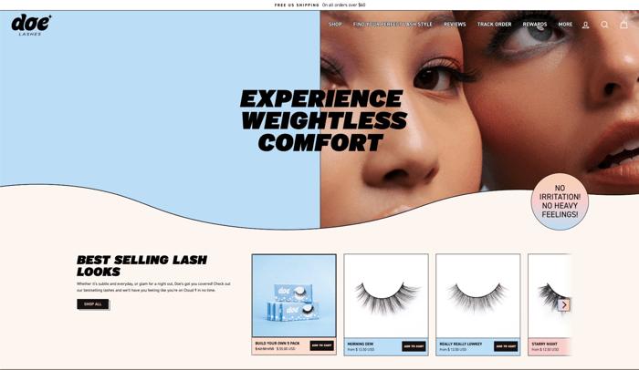 Doe Lashes website